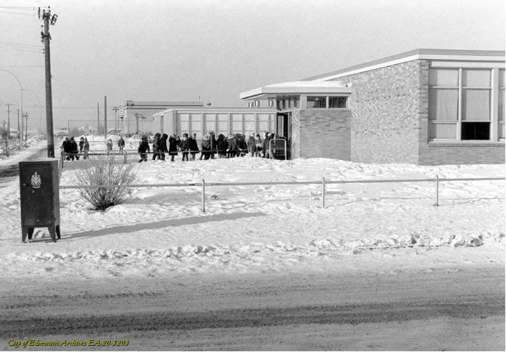 Newton Kids attending St.Leo School on a cool winters day circa 1968