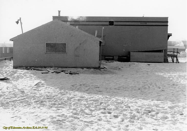 The back of the Rink Club House and Newton Hall circa 1968